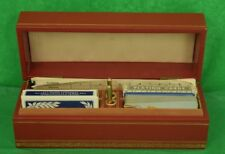 Abercrombie & Fitch Bridge Four Deck Leather Boxed Set w/ Pens