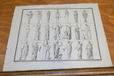 1822 Antique Print///STATUES OF THE GODS AND IDOLS