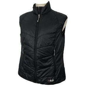 Rab Women's XL 16 Full Zip Generator Vest PrimaLoft Black Lightweight Pertex VGC
