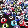 5Pcs Multicolor Murano Lampwork Glass Charm Big Hole Beads Fit European Bracelet