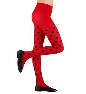 Kids Ladybird Ladybug Tights Age 1 2 3 4 5 6 7 8 9 10 11 12 13 14 years Costume