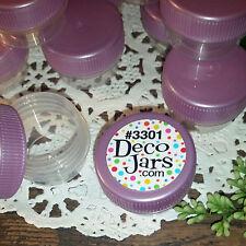 12 Tiny JARS 3301 Purple Lilac Lavender Caps 1/4oz posh 1tsp Container Sample
