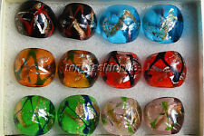 Wholesale Lot Mode Jewelry 6Pcs Summer Style Charms Murano Glass Ring