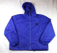 Tommy Hilfiger Windbreaker Jacket XL Blue Clear Zipper Flag m3