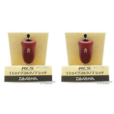 DAIWA Genuine SLP WORKS RCS I Shape Cork Handle Knob RED x 2pcs