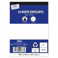 C6 White Envelopes - Peel and Seal - Pack of 3,10 or 50 - UK Stockist