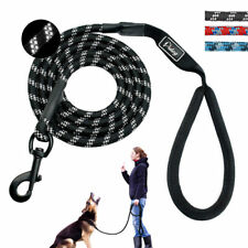 Reflective Nylon Braided Rope Dog Walk Leash Strong Long Leads for Dogs Training