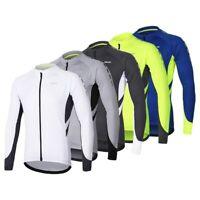 Men's Full Zipper Cycling Jersey Long Sleeves MTB Bike Jerseys Shirts Clothing
