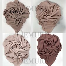 Hijab Scarf Chiffon Elegant High Quality Sarong Shawl Wrap Plain Maxi