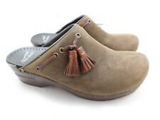 Dansko Women's Shannon Shoes  39  9  Brown Tassel Professional Clogs Slip Ons