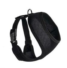 Dogline 10 N x 12-17 G in. Nylon Mesh Harness Black Adjustable Chest Strap Small