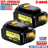 2PCS/SET FOR Dewalt 20Volt MAX XR 4.0 Lithium Ion Batteries DCB204 DCB205 DCB206