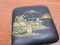 Vintage Post WW2 Japanese Inlaid Mixed Metal Cigarette Case Holder