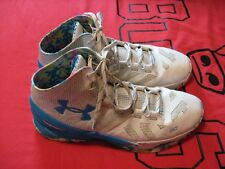 Used Under Armour Curry 2 Birthday Cake White And Blue Size 13 Shoes #2005