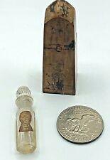 Vintage Parfum Flora Mignon Lily Perfume Bottle w/ Obelisk Shape Wood Box EXCEL