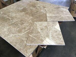 "Marble Tiles, Emperador Light Polished Floor/Wall Limestone 18X18"" -20m2 JOBLOT"