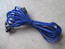 BULL AUDIO Chinch Kabel 2x2 Stecker Verstärker Audio Hifi blau 5 Meter