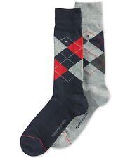 Tommy Hilfiger Men's Argyle Dress Socks, Navy/Gray, Shoe Size 7-12