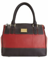 Tignanello Handbag Social Status Leather Satchel Rouge Brown Red Purse Bag New