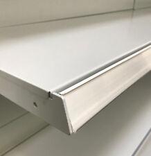 10 x Metal TEGO l100cm carril de Escáner Rieles Precios Pared Estantería Blanco