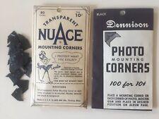 vintage photo corners Dennison black NuAce clear