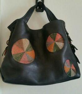 Radley Leather Tote Hobo Handbag Black Medium