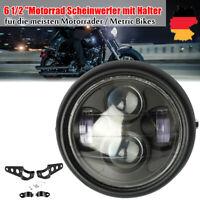 """Motorrad 6.5"""" LED Scheinwerfer 40W Hi/Low Beam mit Frei Halter für Harley Bobber"""