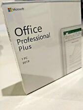 Microsoft Office 2019 Professional Plus Retail Version for Windows 10 1Pc
