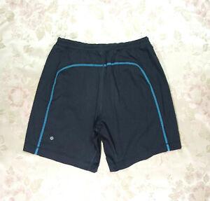 Lululemon Sz L Gray/Turquoise Gym/Activewear Shorts VGC