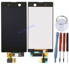 ECRAN LCD + VITRE TACTILE BLOC ASSEMBLE POUR SONY XPERIA M5 NOIR E5603 E5606