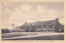 Lake Wallis, Vt - Recreational Lodge at the Marshall Camps