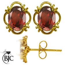Orecchini di lusso con gemme bottoni naturali rossi