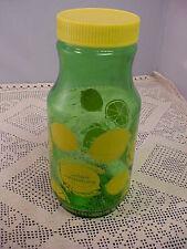 Vintage Collectible Anchor Hocking Golden Anniversary Juice Jar Lemons 3 Cups