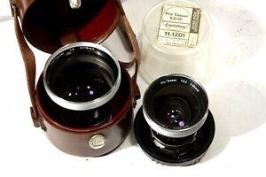 Lot of 2 lenses for Zeiss Contaflex