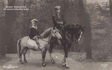 KRONPRINZ WILHELM mit seinem ältesten Sohn 1908 Foto Postkarte Liersch & Co