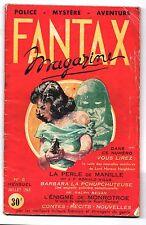FANTAX Magazine n°2 de juillet 1949. CHOTT. Rare n° en bel état