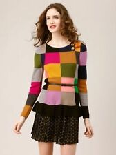 RARE Sonia Rykiel Patchwork Volant Sweater Maglione Taglia L £ 350+ NUOVO senza etichette mai indossato