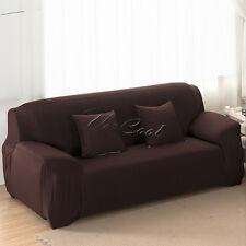 Stretch Fit Sofa Cover Lounge Couch Removable Slipcover Washable 1 2 3 Seater 1 Seateror Arm Chair(91-140cm) Chocolate