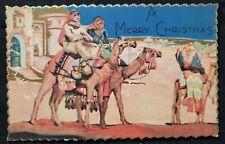 VINTAGE CHRISTMAS CARD Postcard unused made in USA..