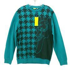NWT Versace Jeans Tiger Sweatshirt Black Teal Green Logo Size MEDIUM