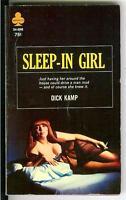 SLEEP-IN GIRL by Dick Kamp, rare US Midwood Book sleaze gga noir pulp vintage pb
