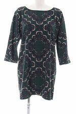 PEPE JEANS A-Linien Kleid abstraktes Muster Casual-Look Damen Gr. DE 40 grün