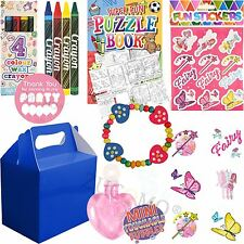 Girls Royal Blue Personalised Wedding Activity Pack Favor Gift Party Bags Kids