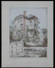 VILLA MEULAN, BERNAY - 1905 - PLANCHES ARCHITECTURE - VERDONNET, PRONIER
