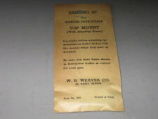 Weaver Top Mount Base #27 Remington NOS