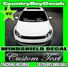 CUSTOM TEXT Lower Windshield VINYL DECAL Sticker Turbo Boost Truck Stance