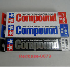 TAMIYA Model Polishing Compound Combo Set Coarse Fine Finish 87068 87069 87070