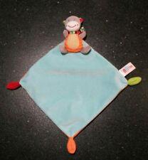 Doudou vache girafe ouatoo baby bleu  orange com neuf