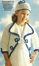 Pretty Little Sweetness Sweater & Hat/Crochet Pattern Instructions Only