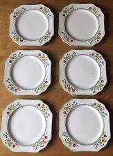 6 x Collectable Vintage Fieldings/Devon Ware Sandwich Plates (Poppy Design)